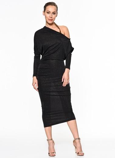 Setre Uzun Abiye Elbise Siyah